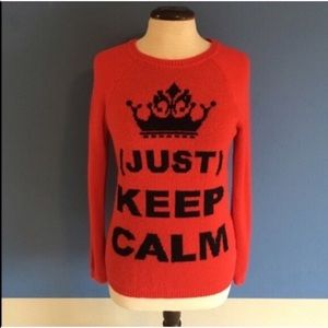"Forever 21 ""Just Keep Calm"" Sweater"